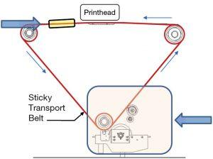 Sticky-Belt-Transport-System