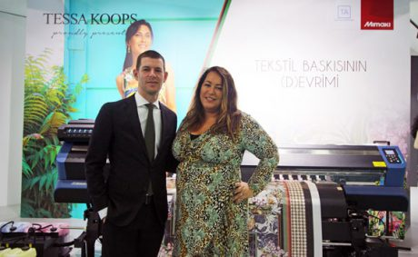 Fespa Eurasia 2019'da Arjen Evertse ve Tessa Koops